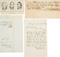 Autographs:Statesmen, [Abraham Lincoln]: Autographs of His Three Main Law Partners. ...