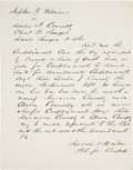 Autographs:Celebrities, [Abraham Lincoln]: Lincoln & Herndon Legal Document. ...