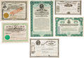 Political:Small Paper (1896-present), [Abraham Lincoln]: Graphic Stocks and Bonds. ... (Total: 6 Items)