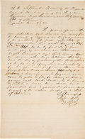 Autographs:Statesmen, Stephen A. Douglas: Early Legal Document. ...