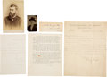 Political:Memorial (1800-present), [Abraham Lincoln]: Funeral Train Passenger Archive. ... (Total: 5 Items)