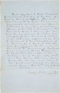 Autographs:Celebrities, [Abraham Lincoln]: Legal Document Selecting Lincoln as Counsel....