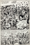 "Original Comic Art:Complete Story, Ray Bailey (attributed) War Battles #1 ""The Trap"" Complete 5Page Story Original Art (Harvey, 1952).... (Total: 5 Original Art)"