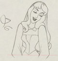 Animation Art:Production Drawing, Sleeping Beauty Briar Rose Production Drawing Animation Art(Walt Disney, 1959)....