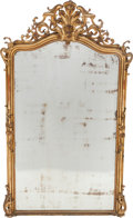 Decorative Arts, French:Other , A LOUIS XV-STYLE GILT WOOD MIRROR, mid 19th century. 71 inches highx 43 inches wide (180.3 x 109.2 cm). ...