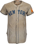 Baseball Collectibles:Uniforms, 1938 Mel Ott Game Worn New York Giants Jersey, MEARS A8....