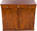 Furniture : Continental, A CONTINENTAL WALNUT, BRASS AND IRON SPICE CABINET, late 18thcentury. 33-1/4 x 38-1/2 x 18-1/8 inches (84.5 x 97.8 x 46.0 c...(Total: 3 Items)