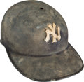 Baseball Collectibles:Hats, Circa 1950 New York Yankees Game Used Batting Helmet - Early Style....