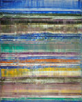 Post-War & Contemporary:Abstract Expressionism, MICHAEL BURGESS (German, b. 1954). Refractions/Waves, 2006.Oil on wood. 59 x 47 inches (149.9 x 119.4 cm). Signed, titl...
