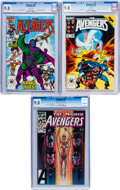 Modern Age (1980-Present):Superhero, The Avengers #255, 261, and 267 CGC-Graded Group (Marvel, 1985-86)Condition: CGC NM/MT 9.8.... (Total: 3 Comic Books)