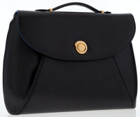 Cartier Black Leather Panthere Briefcase