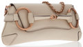 Luxury Accessories:Bags, Gucci Ivory Leather Horsebit Clutch Bag with Chain . ...