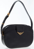 Luxury Accessories:Bags, Cartier Navy Blue Leather Shoulder Bag. ...