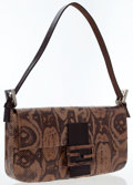 Luxury Accessories:Bags, Fendi Natural Python & Brown Leather Baguette Bag. ...