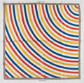 "Luxury Accessories:Accessories, Louis Vuitton Limited Edition Red, Yellow & Blue ""Undertow,"" bySol Lewitt Silk Scarf. ..."