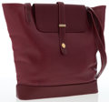 Luxury Accessories:Bags, Cartier Burgundy Leather Tote Bag with Gold Hardware . ...