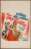"""Movie Posters:Drama, The Gay Sisters (Warner Brothers, 1942). Window Card (14"""" X 22""""). Drama.. ..."""