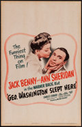 """Movie Posters:Comedy, George Washington Slept Here (Warner Brothers, 1942). Window Card (14"""" X 22""""). Comedy.. ..."""