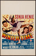 "Movie Posters:Musical, Wintertime (20th Century Fox, 1943). Window Card (14"" X 22""). Musical.. ..."