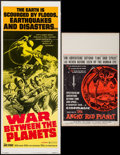"Movie Posters:Science Fiction, The Angry Red Planet & Other Lot (American International,1960). Window Card (14"" X 22"") & Insert (14"" X 36""). ScienceFicti... (Total: 2 Items)"