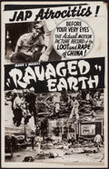 """Movie Posters:War, Ravaged Earth & Other Lot (Crystal Pictures, 1942). ProductionMockup Window Card (14"""" X 22"""") & Recruitment Posters (3)(app... (Total: 4 Items)"""
