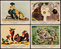 "Movie Posters:Animation, Dumbo (RKO, R-1948). British Front of House Photos (9) (8"" X 10"").Animation.. ... (Total: 9 Items)"