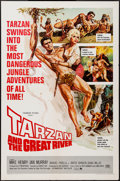 "Movie Posters:Adventure, Tarzan and the Great River & Other Lot (Paramount, 1967). OneSheets (2) (27"" X 41"") & Pressbooks (2). Adventure.. ...(Total: 4 Items)"
