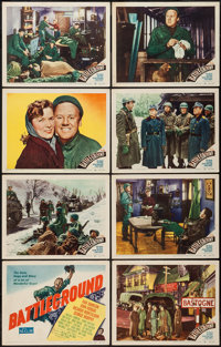 "Battleground (MGM, 1949). Lobby Card Set of 8 (11"" X 14""). War. ... (Total: 8 Items)"