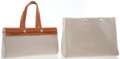 Luxury Accessories:Bags, Hermes Toile & Vache Naturelle Leather Herbag Cabas MM Bag. ...