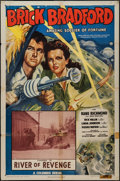 "Movie Posters:Serial, Brick Bradford Amazing Soldier of Fortune (Columbia, 1947). One Sheet (27"" X 41""), Chapter 14 -- ""River of Revenge."" Serial...."