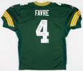 Football Collectibles:Uniforms, Brett Favre Signed and Inscribed Green Bay Packers Stat Jersey....