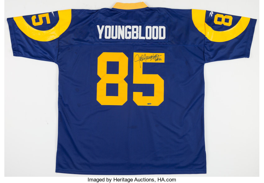 the latest 9789e 66761 Jack Youngblood Signed Los Angeles Rams Jersey.... Football ...