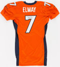 Football Collectibles:Uniforms, John Elway Signed Denver Broncos Pro Cut Jersey - From NFL Auction....