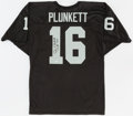 Football Collectibles:Uniforms, Jim Plunkett Signed Oakland Raiders Jersey....