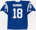 Football Collectibles:Uniforms, Peyton Manning Signed Indianapolis Colts Jersey....