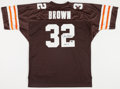 Football Collectibles:Uniforms, Jim Brown Signed Cleveland Browns Jersey....