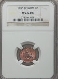 Belgium, Belgium: Leopold I Centime 1850 MS66 Red and Brown NGC,...