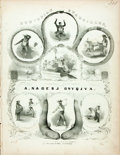 Books:Music & Sheet Music, [Sheet Music]. A. Nagerj Onyqjva, arranger. EthiopianQuadrilles, Danced and Sung by the Virginia Minstrels. Fir...
