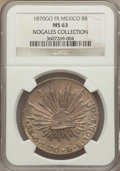 Mexico, Mexico: Republic 8 Reales 1870 Go-FR MS63 NGC,...