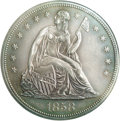 Proof Seated Dollars: , 1858 $1 PR60 PCGS. Among the most famous and widely recognizeddates in the 1840-1873 Seated ...