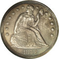 Proof Seated Dollars: , 1858 $1 PR62 NGC. The 1858 Seated dollar is a well known rarity in a low-profile series that ...