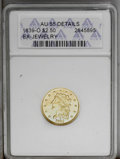 Classic Quarter Eagles: , 1839-O $2 1/2 --Ex-Jewelry--ANACS. AU55 Details. Low Date, Close Fraction, Breen-6153, McCloskey-B, R.4. A bright and modera...