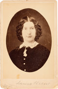 Photography:Cabinet Photos, Ford's Theatre: Laura Keene Cabinet Card. ...