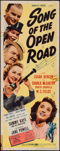 "Movie Posters:Comedy, Song of the Open Road (United Artists, 1944). Insert (14"" X 36""). Comedy.. ..."