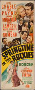 "Movie Posters:Musical, Springtime in the Rockies (20th Century Fox, 1942). Insert (14"" X 36""). Musical.. ..."