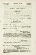 Books:Americana & American History, Georgia: MESSAGE FROM THE PRESIDENT OF THE UNITED STATES,TRANSMITTING A REPORT RESPECTING THE OPERATIONS FOR THEIMPROVEMEN...
