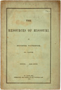 Books:Americana & American History, Waterhouse, Sylvester: THE RESOURCES OF MISSOURI. St. Louis: 1867.96pp, sewn, original printed wrappers. About Fine but for...