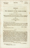 Books:Americana & American History, Tyler, John: MESSAGE FROM THE PRESIDENT OF THE UNITED STATES,COMMUNICATING...COPIES OF CORRESPONDENCE WITH THE GOVERNMENT O...