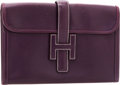 "Luxury Accessories:Bags, Hermes Raisin Calf Box Leather Jige MM H Clutch Bag . Very GoodCondition. 11.5"" Width x 7"" Height x 1"" Depth. ..."