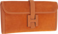 "Luxury Accessories:Bags, Hermes Orange H Veau Doblis Suede & Calf Box Leather Jige PM HClutch Bag . Very Good Condition . 11"" Width x 6""Heigh..."